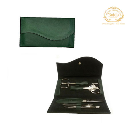 Set manicure donna in eco pelle verde Alpen
